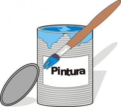 Aidiagre Paint Tin Can And Brush clip art