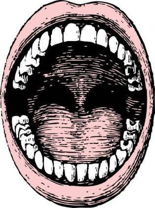 Open Mouth clip art