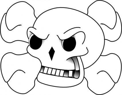 free vector Skull And Bones clip art