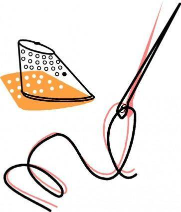 Needle Thread And Timble clip art