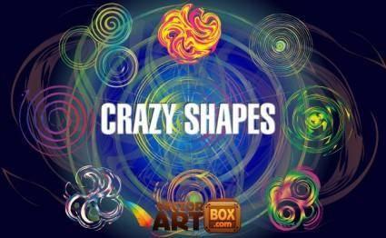 free vector Vector Crazy Shapes