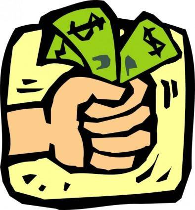 free vector Fist Full Of Money clip art