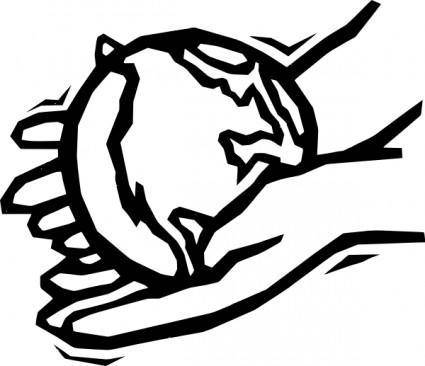 Earth In Gentle Hands clip art