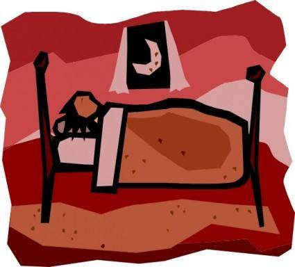 A Person Sleeping clip art
