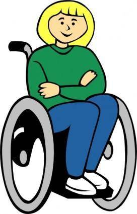 Girl In Wheelchair clip art