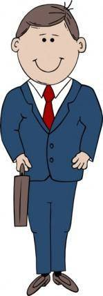 free vector Man In Suit clip art