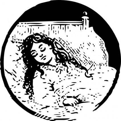 Sleeping Girl clip art
