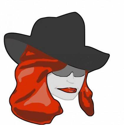 free vector Female Detective clip art