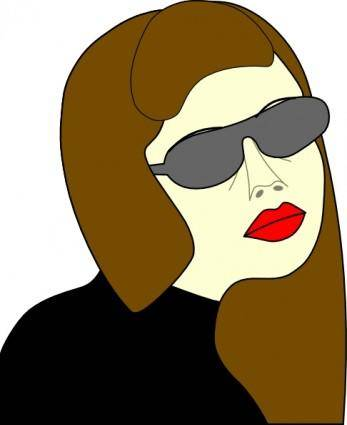 free vector Russian Spy Girl clip art