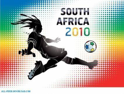 free vector South Africa 2010 World Cup wallpaper vector illustration
