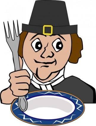 Hungry Pilgrim clip art