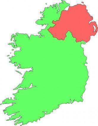 Ireland Contour Map clip art
