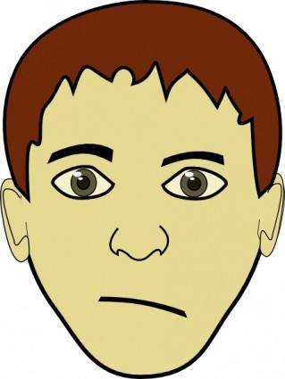 Brown Hair Boy Face clip art
