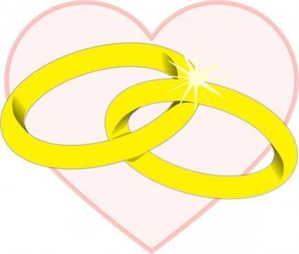 free vector Wedding Rings2 clip art
