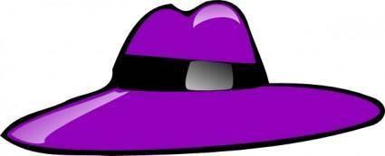 Purple Hat clip art