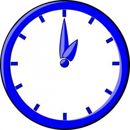 free vector 12 O Clock clip art