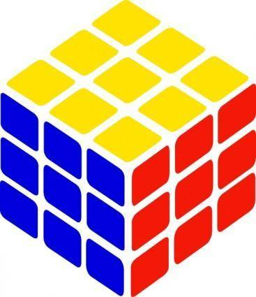 Rubik's Cube Simple clip art