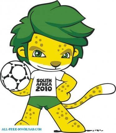 free vector South Africa 2010 World Cup Mascot ZAKUMI Vector adobe ilustrator design