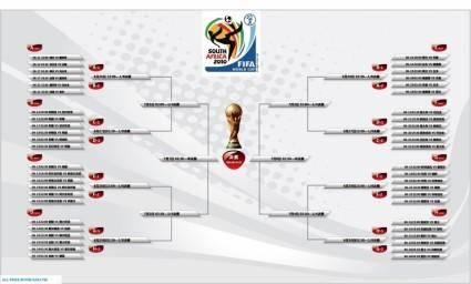 free vector Fifa 2010 South Africas World Cup schedule