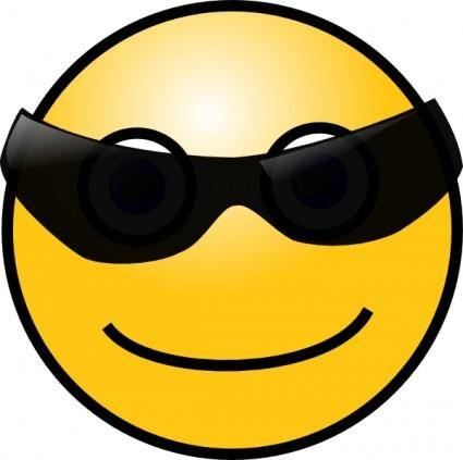 Sun Glasses Cool Smiley clip art