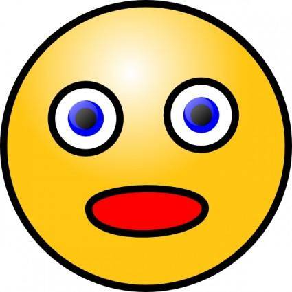 free vector Smiley Shocked clip art