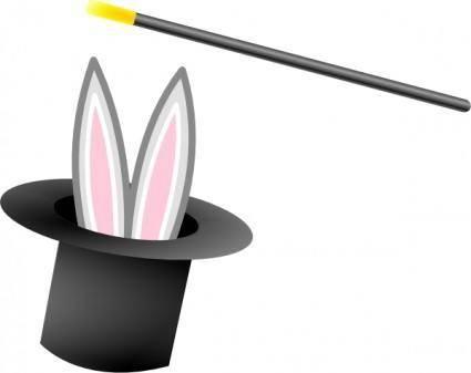 free vector Magic Hat And Wand clip art