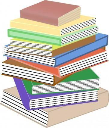 free vector Stack Of Books, Taller clip art
