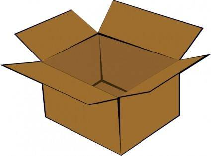 free vector Cardboard Box clip art