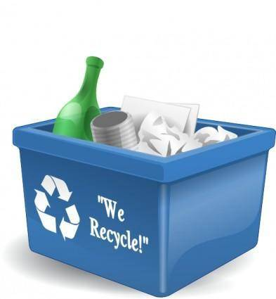 Recycling Box 3d clip art