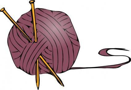 Knitting Yarn Needles clip art