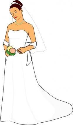 free vector Bride White Dress clip art