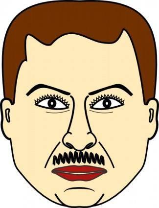 Man Face clip art