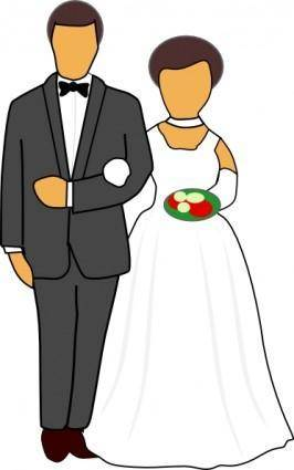 free vector Wedding Couple clip art