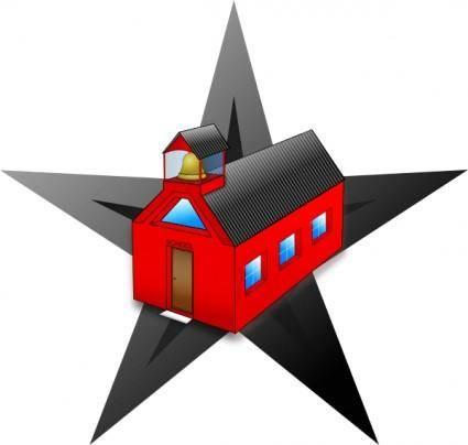 Schools Barn Star clip art