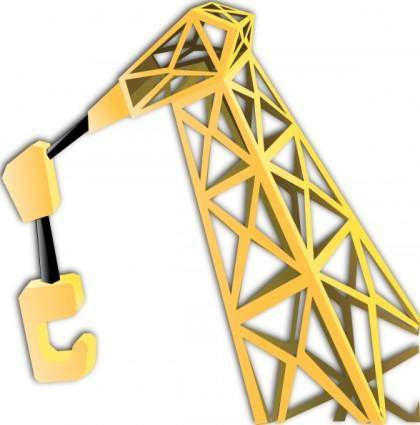 free vector Equipment Crane clip art