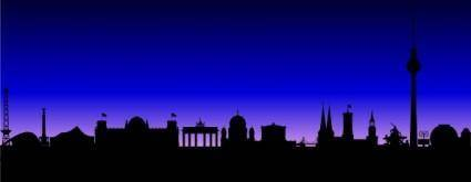 free vector Berlin Germany Skyline clip art