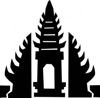 free vector Bali Temple clip art