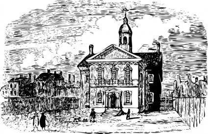 Carpenters Hall clip art