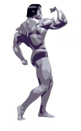 free vector Posing Body Builder clip art