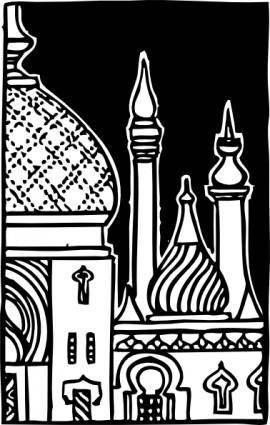 Minarets clip art