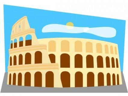 Roman Colosseum clip art