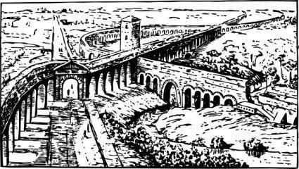 free vector Roman Aqueducts clip art