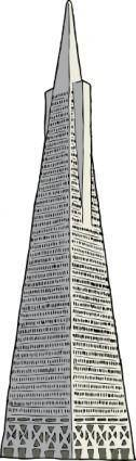 Transamerica Building clip art