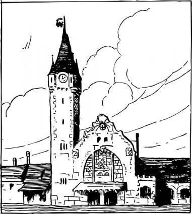 Railway Station clip art
