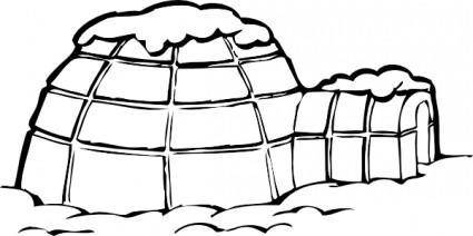Ice Snow House Polar clip art