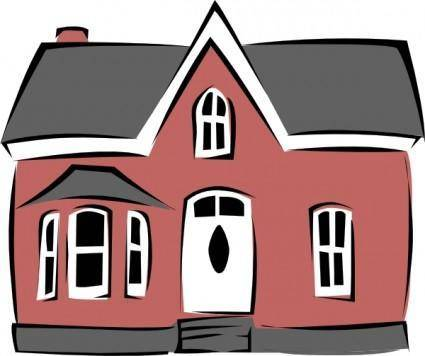 Colonial House clip art
