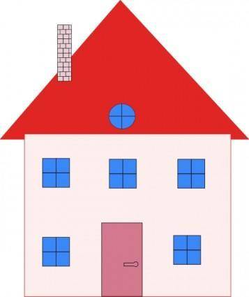 free vector Colonial House Home Real Estate clip art