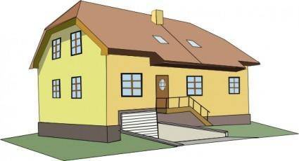 free vector Colonial House clip art