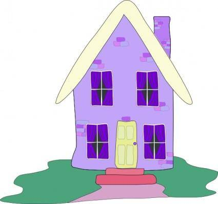 free vector Lilac House clip art