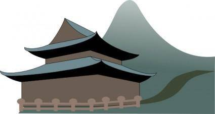 free vector Zen Temple clip art